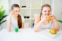 Konzept der gesunden Diät Stockbilder