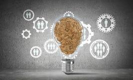 Konzept der Glühlampe als Symbol der neuen Idee Lizenzfreies Stockbild