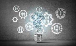 Konzept der Glühlampe als Symbol der neuen Idee Lizenzfreie Stockfotos