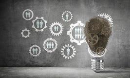 Konzept der Glühlampe als Symbol der neuen Idee Stockfoto