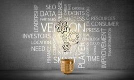 Konzept der Glühlampe als Symbol der neuen Idee Lizenzfreie Stockfotografie