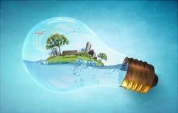 Konzept der globalen Erwärmung Lizenzfreies Stockbild