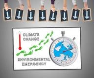Konzept der globalen Erwärmung auf einem whiteboard Lizenzfreie Stockfotografie