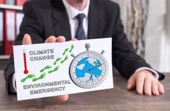 Konzept der globalen Erwärmung auf einer Karteikarte Stockfotos