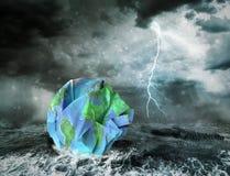 Konzept der globalen Erwärmung und der Apocalypse Stockfotos