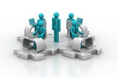 Konzept der globalen Geschäftskommunikation Stockbild