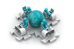 Konzept der globalen Geschäftskommunikation Stockfotos