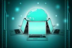Konzept der globalen Geschäftskommunikation Lizenzfreies Stockbild