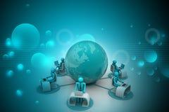Konzept der globalen Geschäftskommunikation Stockfotografie