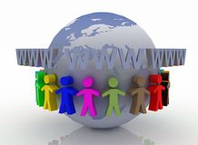 Konzept der globalen Kommunikation Stockbild
