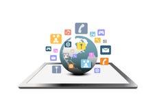 Konzept der globalen Kommunikation Stockfoto
