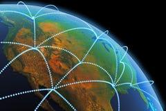 Konzept der globalen Kommunikation Lizenzfreies Stockfoto