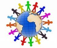 Konzept der globalen Kommunikation 3d übertragen Szene Lizenzfreies Stockbild