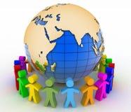 Konzept der globalen Kommunikation 3d übertragen Szene Stockfotos