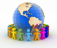 Konzept der globalen Kommunikation 3d übertragen Szene Lizenzfreie Stockfotografie