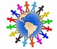 Konzept der globalen Kommunikation 3d übertragen Szene Lizenzfreie Stockfotos