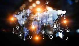 Konzept der globalen Vernetzung stockfoto