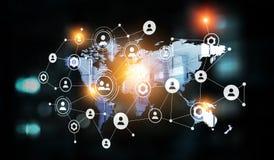 Konzept der globalen Vernetzung stockfotos