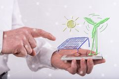 Konzept der grünen Energie Stockfotos