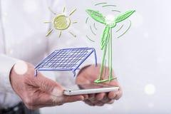 Konzept der grünen Energie Stockfoto