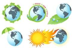 Konzept der grünen Erde stock abbildung