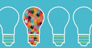 Konzept der großen Ideeninspirationsinnovation, Erfindung, effektives Denken Lizenzfreies Stockbild