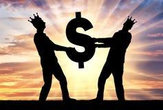 Konzept der Habsucht, Egoismus im Geschäft stockbilder