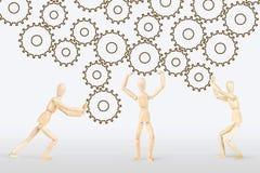 Konzept der harten Teamwork Stockfoto