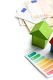 Konzept der Hausenergieeinsparung Stockfotos