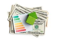 Konzept der Hausenergieeinsparung Lizenzfreies Stockfoto