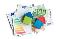 Konzept der Hausenergieeinsparung Lizenzfreie Stockfotos