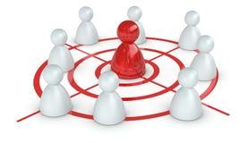 Konzept der Herausforderung und der Führung vektor abbildung