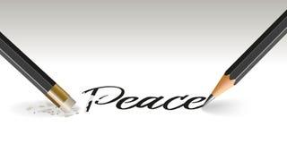 Konzept der Hoffnung des Friedens, der verschwindet stock abbildung