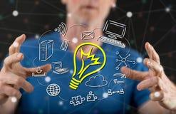 Konzept der innovativen Idee Stockbilder