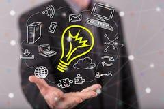 Konzept der innovativen Idee Lizenzfreie Stockbilder