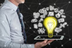 Konzept der innovativen Idee Stockfoto