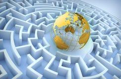 Konzept der internationalen Mitarbeit. Lizenzfreies Stockbild