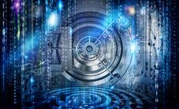 Konzept der Internet-Sicherheitsverbindung mit Safe Stockfotografie
