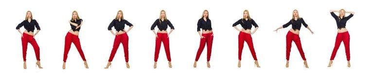 Konzept der jungen Frau in Mode stockfotos