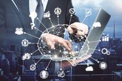 Konzept der künstlichen Intelligenz und der Teamwork lizenzfreies stockfoto