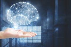 Konzept der künstlichen Intelligenz und der Wissenschaft Stockbilder