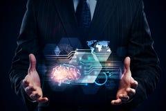Konzept der künstlichen Intelligenz und der Zukunft Lizenzfreie Stockfotos