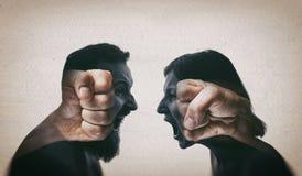 Konzept der Konfrontation lizenzfreies stockfoto
