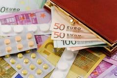 Konzept der Kosten der Medikation Lizenzfreies Stockbild