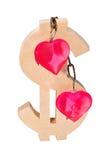 Konzept der Liebe und des Geldes Lizenzfreie Stockfotos