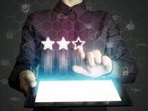 Konzept der on-line-Bewertung Stockfotografie