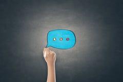 Konzept der on-line-Kommunikation Lizenzfreies Stockfoto