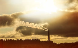Konzept der Luftverschmutzung und des Klimaänderns Lizenzfreies Stockbild
