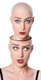 Konzept der mehrfachen Persönlichkeit Stockbilder