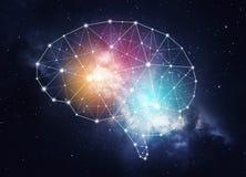 Konzept der menschlichen Intelligenz stockbild